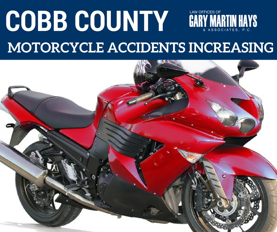 motorcycle accidents on the rise in Cobb County