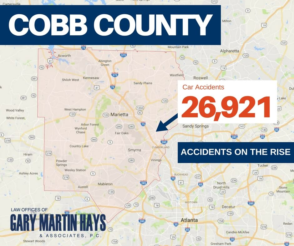 Car Accidents Increasing in Cobb County