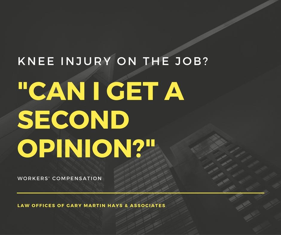 Knee injury on the job