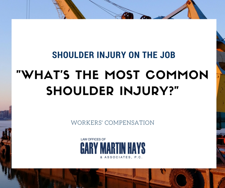 What's the most common shoulder injury?