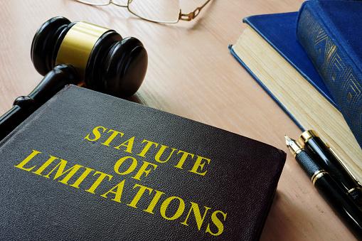 Statute of limitations (SOL) on a court desk.