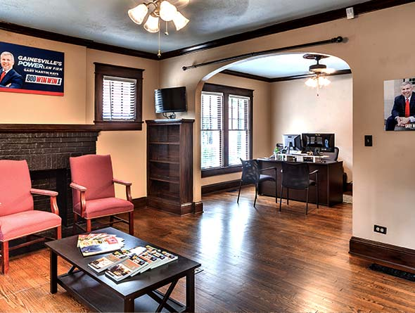 Gainesville law office interior